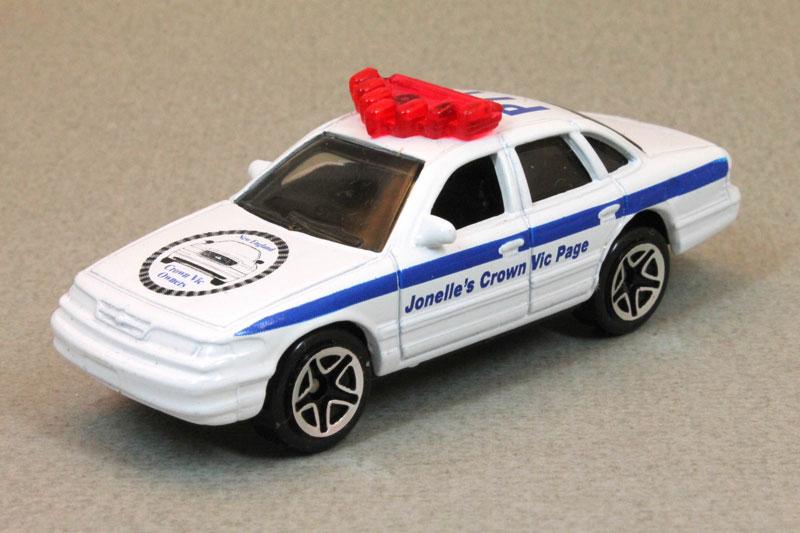 UNBESPIELT/&TOP ZUSTAND 1996 MATCHBOX FORD CROWN VICTORIA POLICE CAR