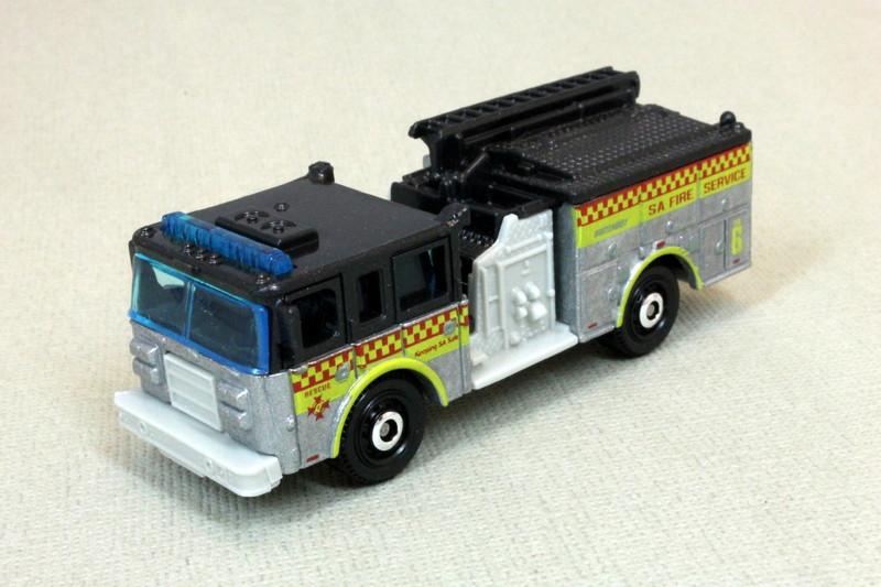 2010 Matchbox Brown Township Pierce Dash Fire Engine Truck