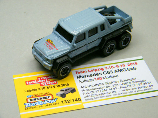 Matchbox Leipzig 2020 Mercedes Benz G-Klasse G63 6*6  Teammodell gold